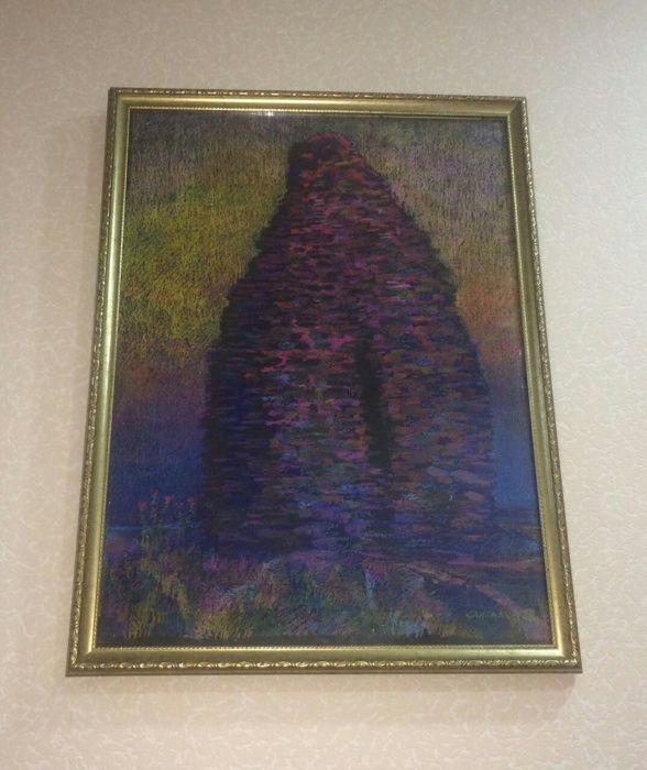 Картина художника Санталова В. Мавзолей Козы Корпеш и Баян Сулу.