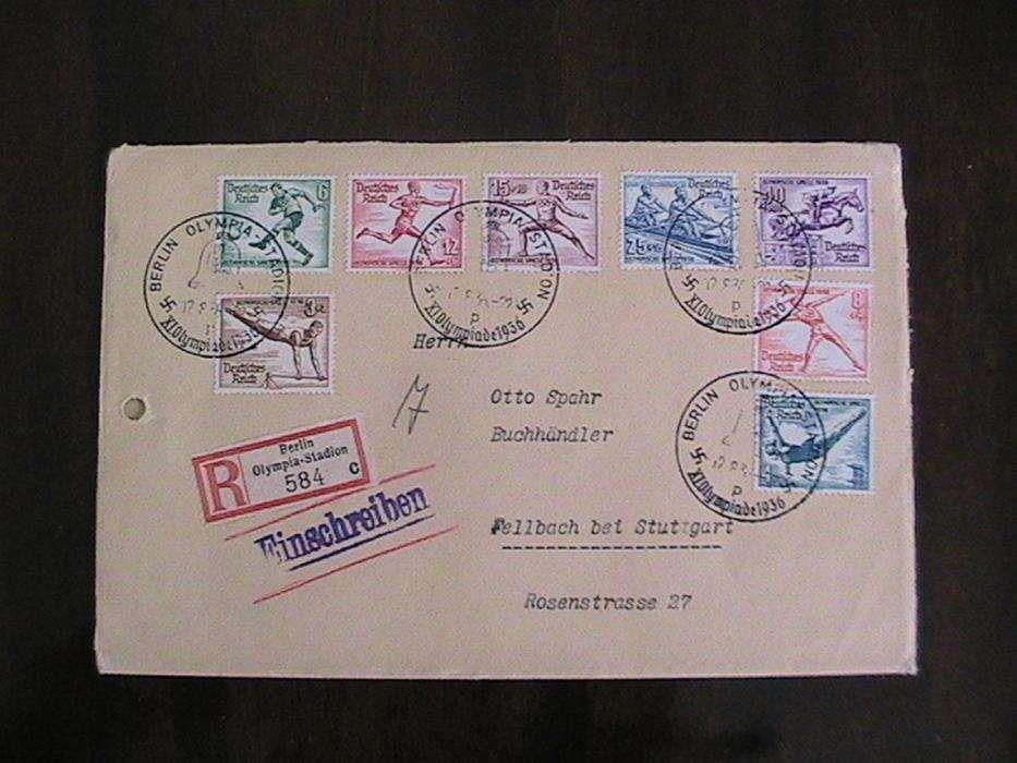 plic vechi rar olimpiada ,timbre,stampile cu svastica