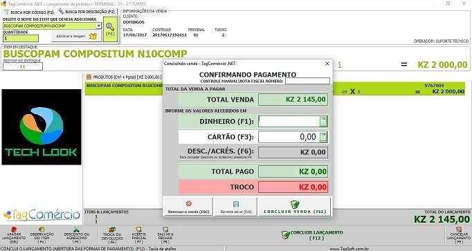 Sistema de faturação para lojas, restaurantes, POS, bares e serviços
