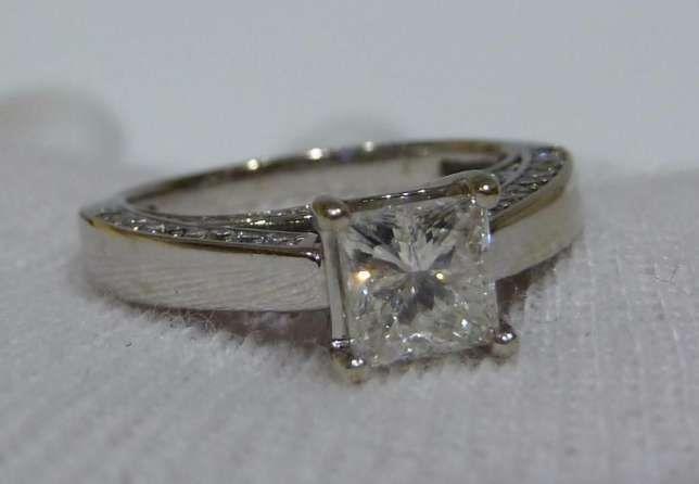 Inel logodna aur 14k si diamante 1.26ct