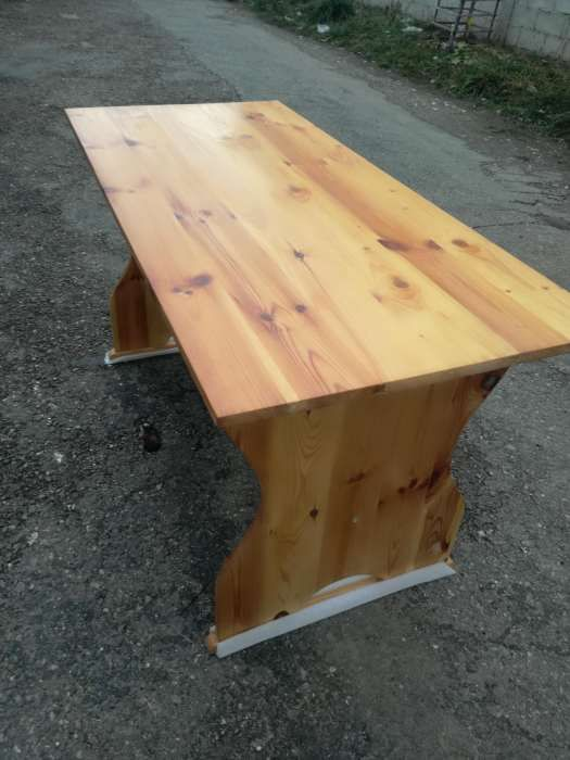 Masa lemn masiv integral din Pin Silvestru