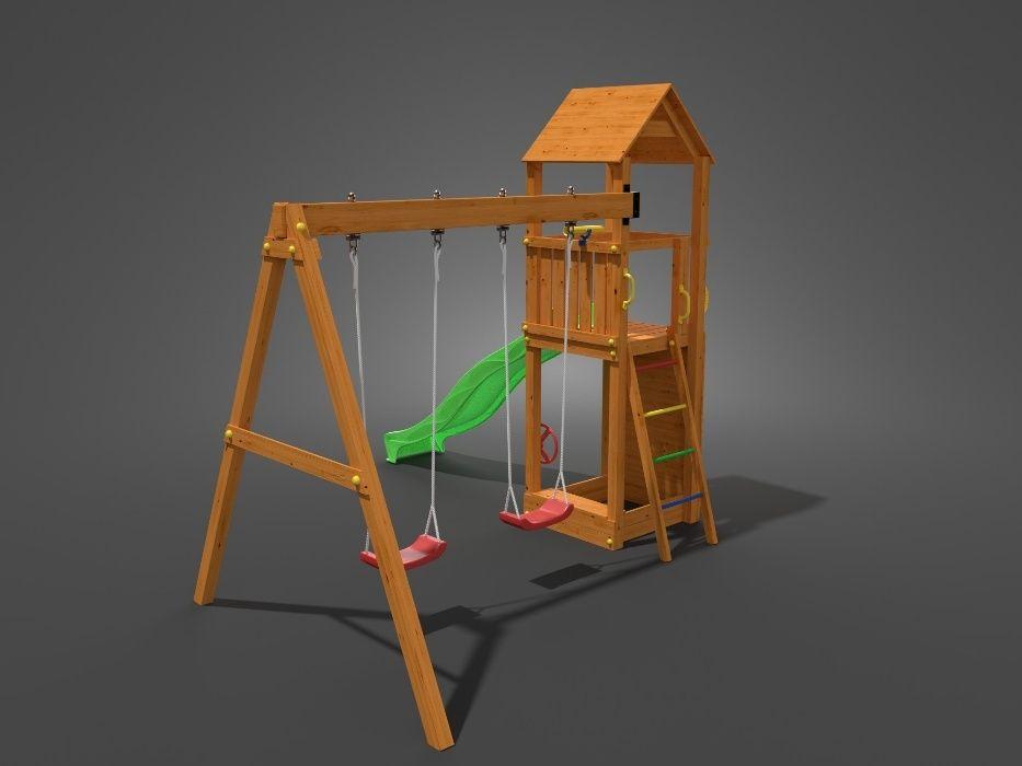 Fungoo FLAPPI дървена детска площадка с пързалка и 2 люлки гр. София - image 5