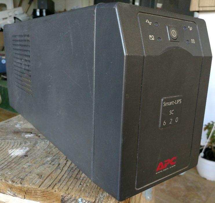 UPS APC Smart SC 620VA, f ieftin, are AVR, cu sau fara acumulator nou.