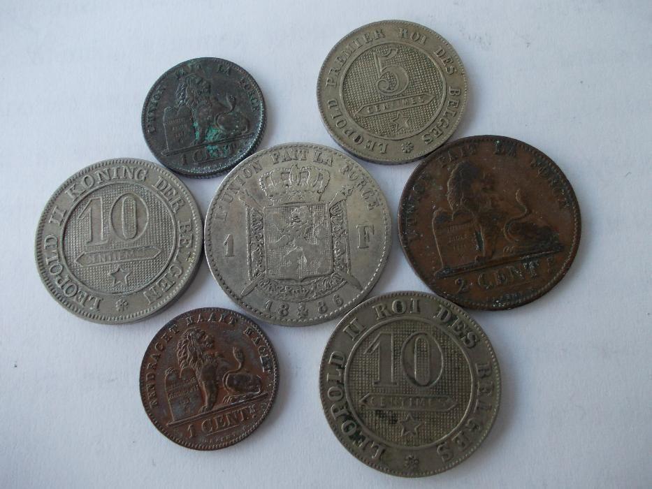 7 monede vechi Belgia