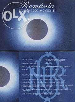 50 bancnote eclipsa 1999 in folder BNR, serie A