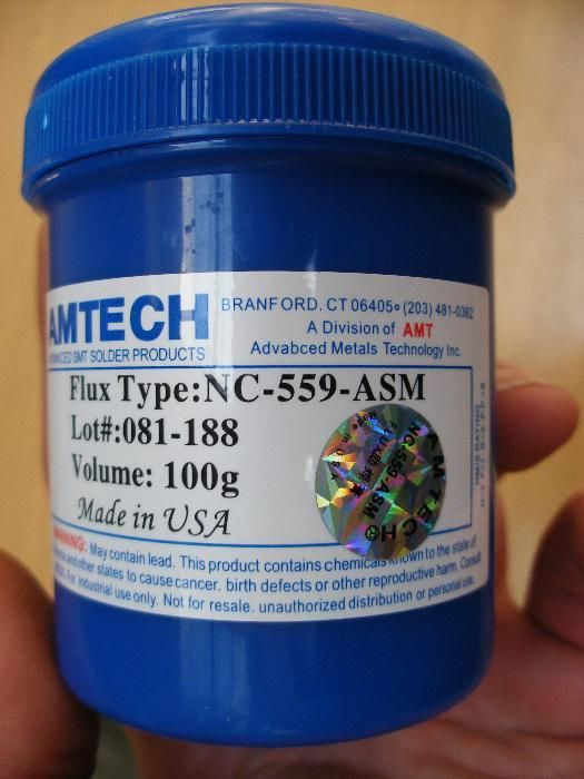 AMTECH NC-559-ASM Флюс flux паста за запояване ребол на BGA SMD 100гр