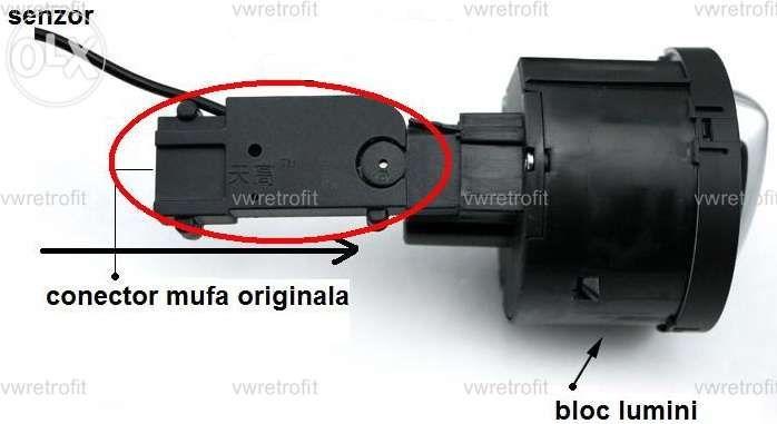 Bloc ( comutator faruri ) lumini ornament crom + senzor lumina VW