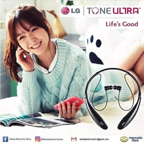Auriculares Bluetooth tipo Colar, Marca LG.