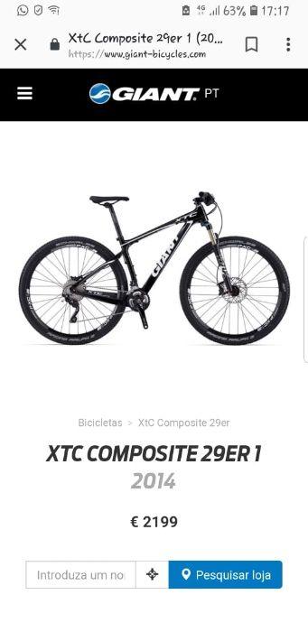 Vendo bicicleta xtc composite 29er 2014