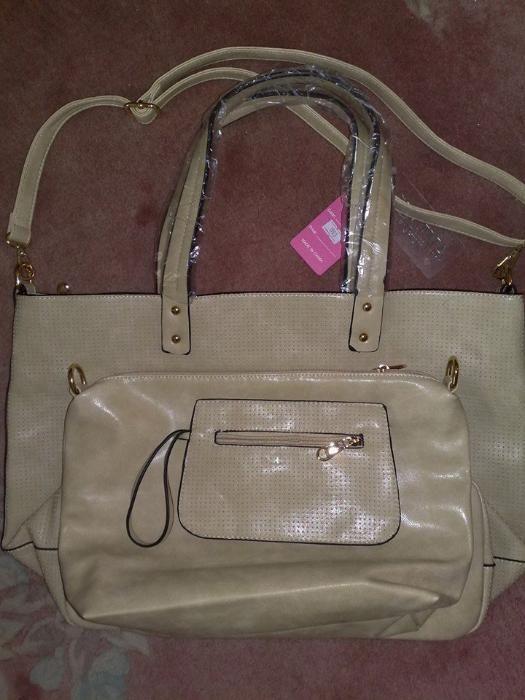 poseta/geanta 2 in 1 cu portofel,noua,mare,32/50cm