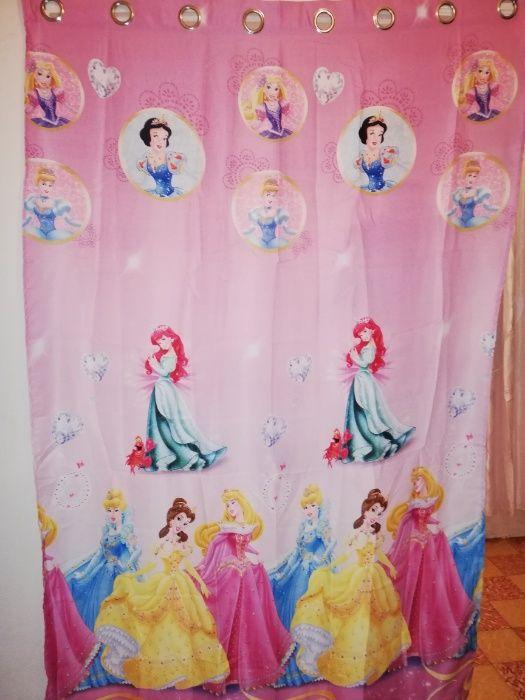 Cortinas Infantis Princesas Disney