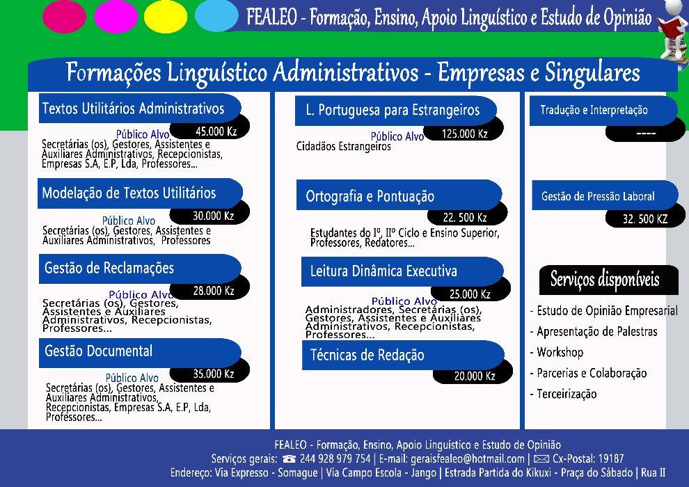 Formações Linguísticos Administrativos para Empresas e Singulares
