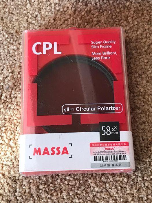 Filtri MASSA MRC CPL/UV si CPL de 58mm