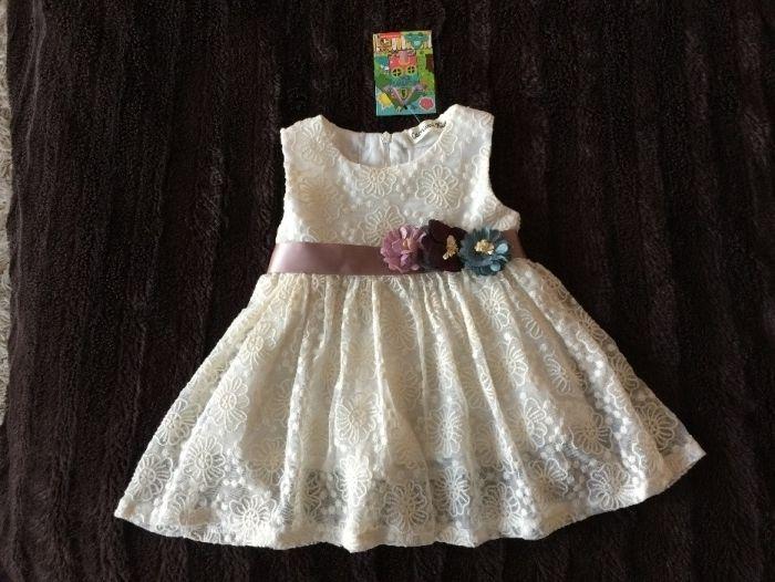 НОВА Официална рокля бебе момиченце размер 74