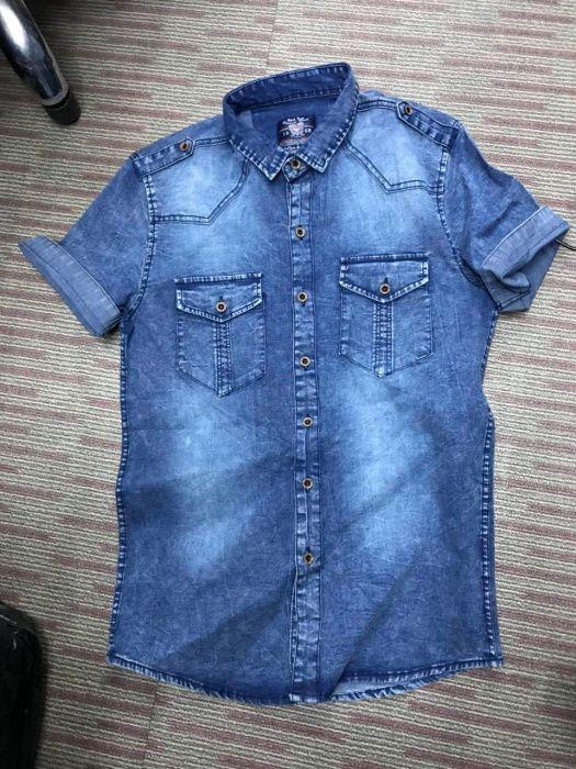 Camisas de Tecido Jeans
