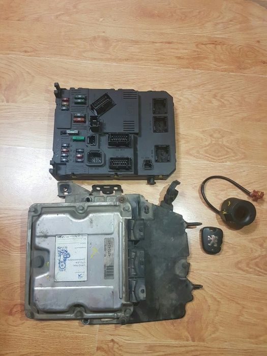 Kit pornire peugeot 206 2.0 hdi, ecu+bsi+imo+cip+electronica cheie