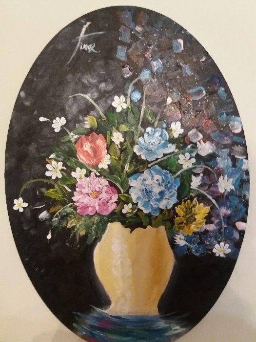 Pictură 3d cu diferite flori