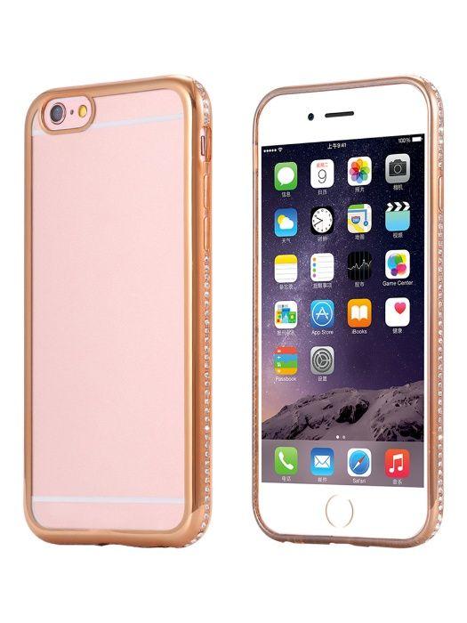 Husa Apple iPhone 7 Plus, Elegance Luxury placata cu diamante Gold