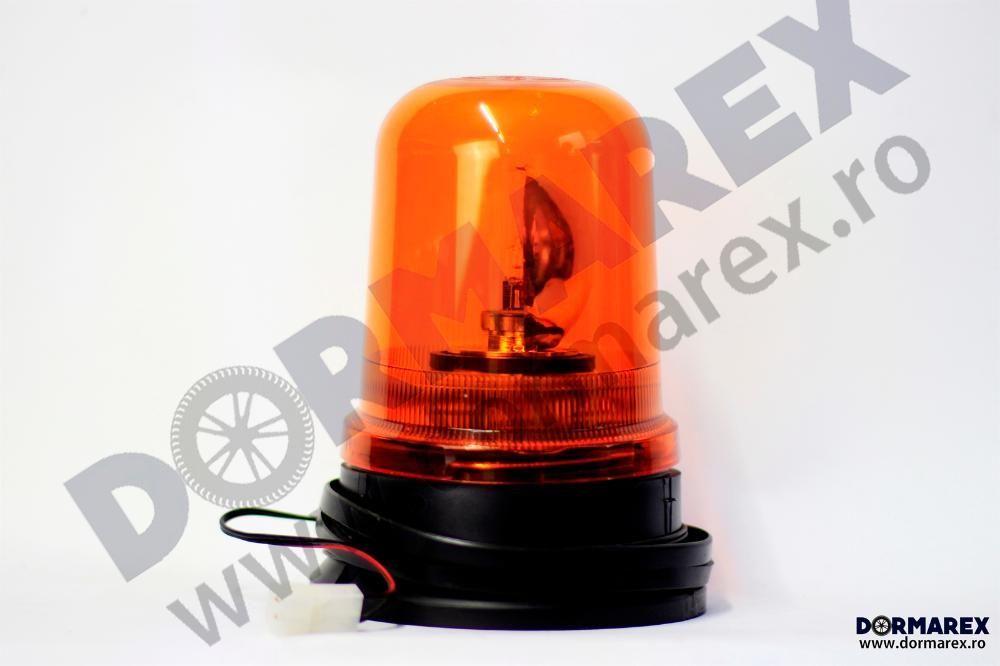 Girofar rotativ galben bec halogen - Girofar portocaliu albastru rosu