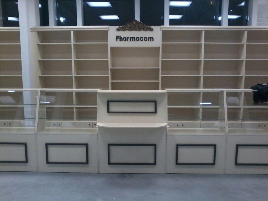 мебель для аптек:аптечные витрины, стеллажи, шкафы.