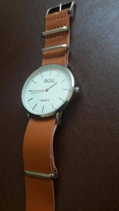 Ceas de mână bărbătesc brand BGG curea maro