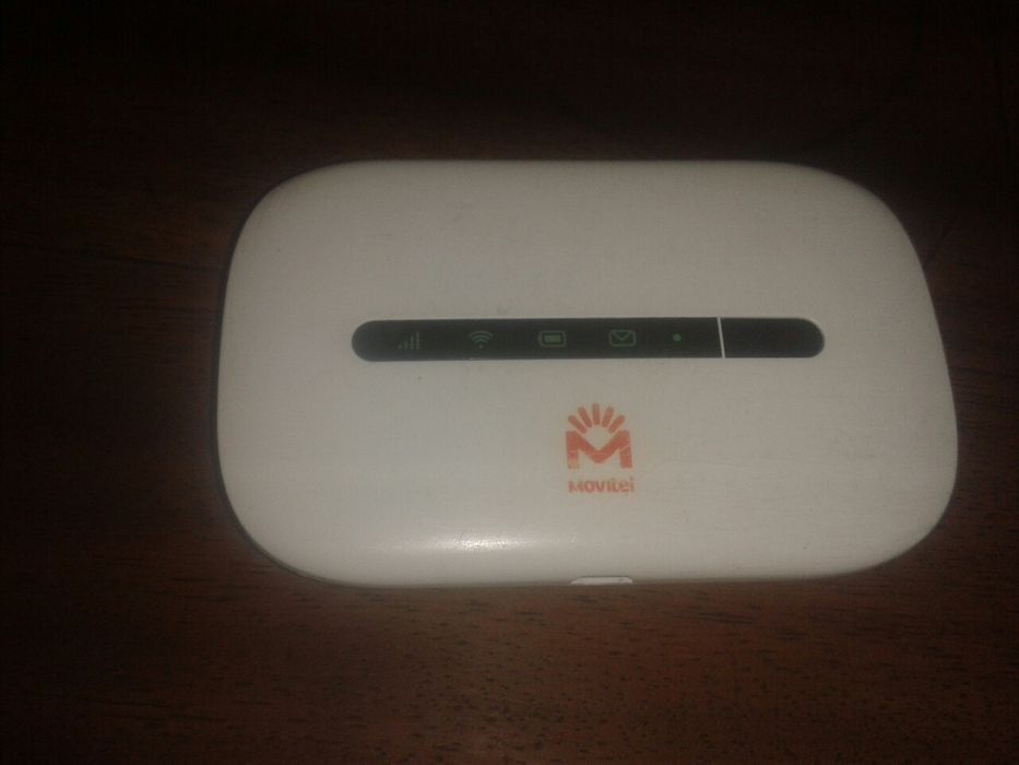 Modem wifi Huawei da Movitel suporta 10 dispositivos on. Bateria 1 dia