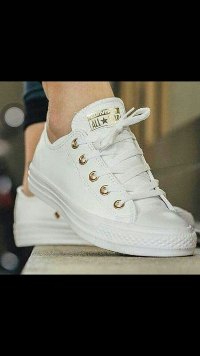 All star leather White