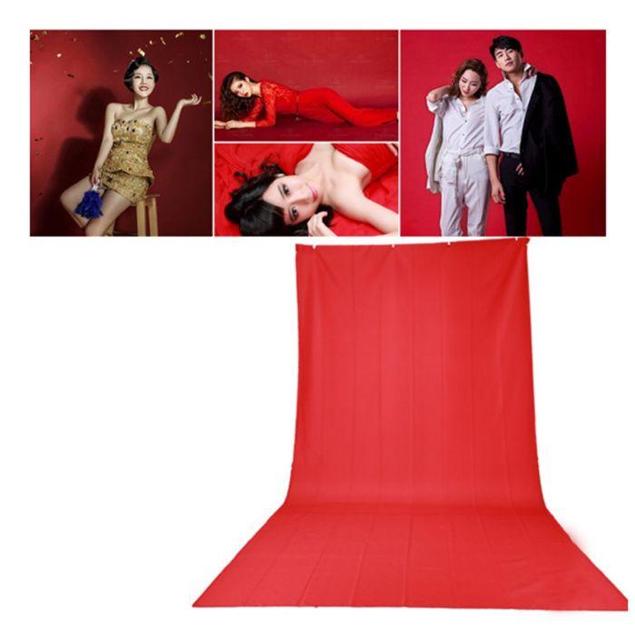 Fundal Rosu 3 x 6m pt. studio, craciun, aniversare, scena