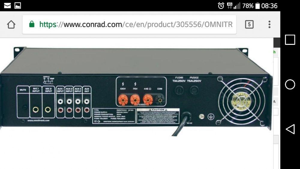 Vand amplificator omnitronic