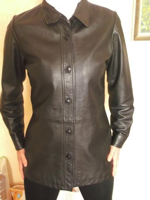 Vera Pelle, италианско кожено яке, сако, естествена кожа, М