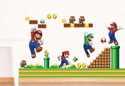 Sticker de perete 54x90cm Mario World 1