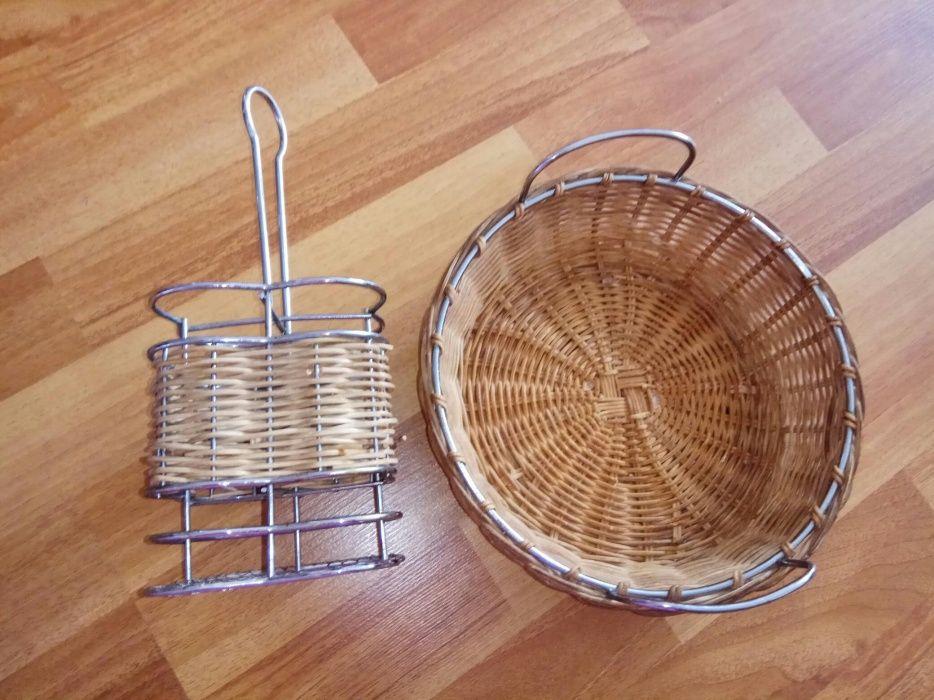Хлебница/фруктовница и подставка для столовых приборов