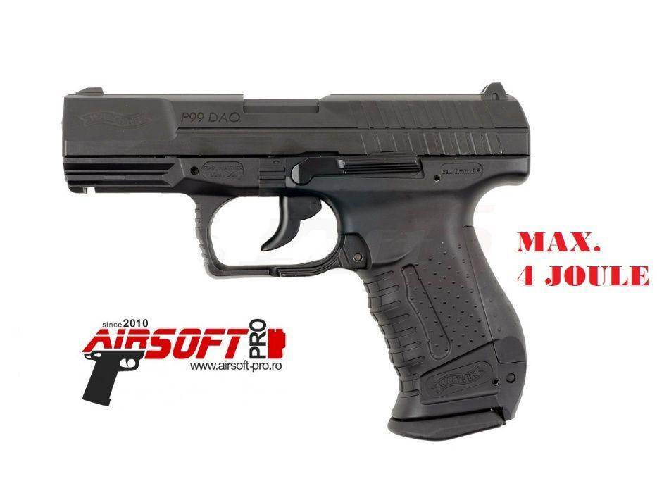 Pistol Walther P99 Dao CO2 Umarex Modificat max. 4 Jouli