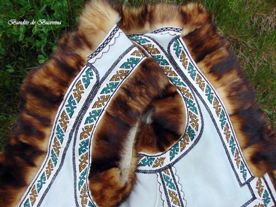 Bundita traditionala cu blana de dihor din zona Bucovinei