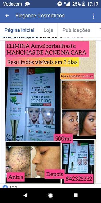 Elimina acne(borbulhas) e manchas de acne.Depoimentos reais contacte n
