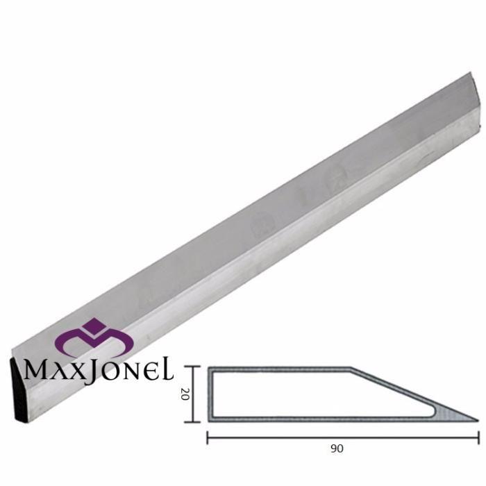 Dreptar aluminiu trapezoidal 90x20x1.5mm