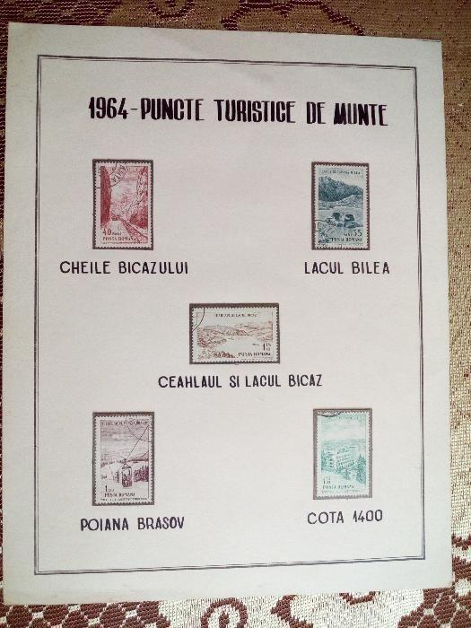 Timbre 1964. Puncte turistice de munte