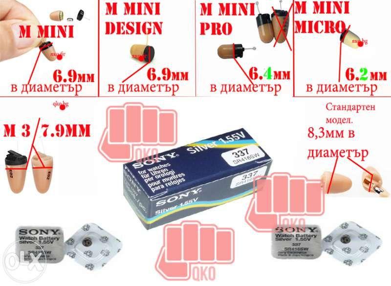Батерия за микрослушалка 337 SR416SW, 337 Сребърен оксид Silver oxide