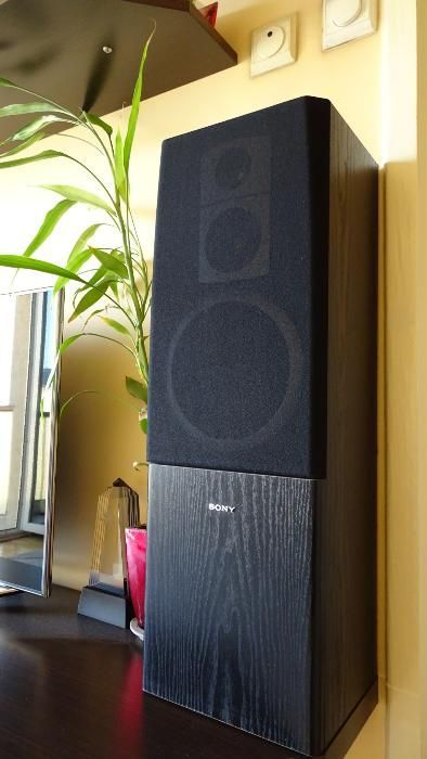 Boxe HiFi Sony 100W bass reflex, 3 căi, lemn, incinte acustice