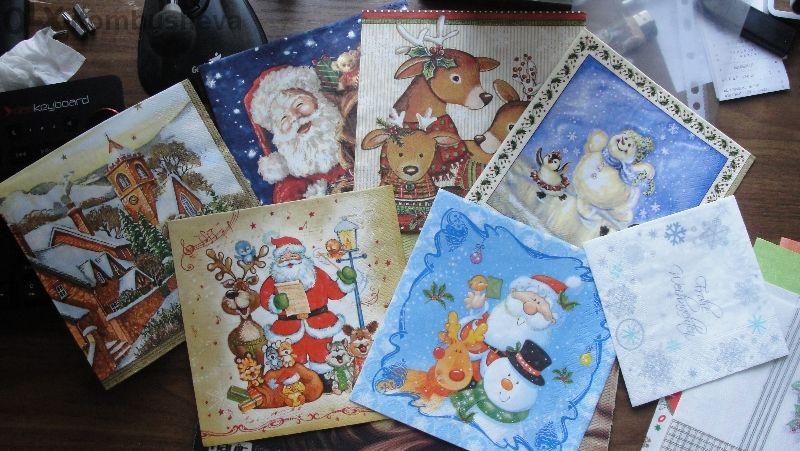 Коледни Салфетки за колекция и декупаж 1