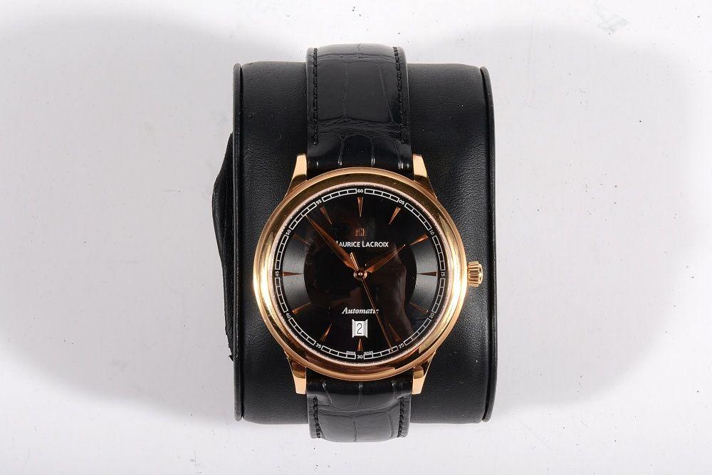 Мъжки часовник Maurice Lacroix Les Classiques Black Dial 18К Rose Gold