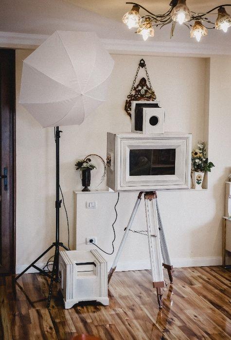 Cabina foto Vintage - Photo booth Vintage - fum greu - drona