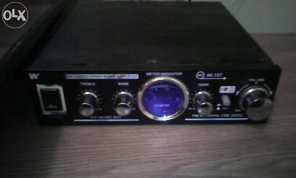 Amplificator audio Wericson Ak-107 cu tuner radio Fm