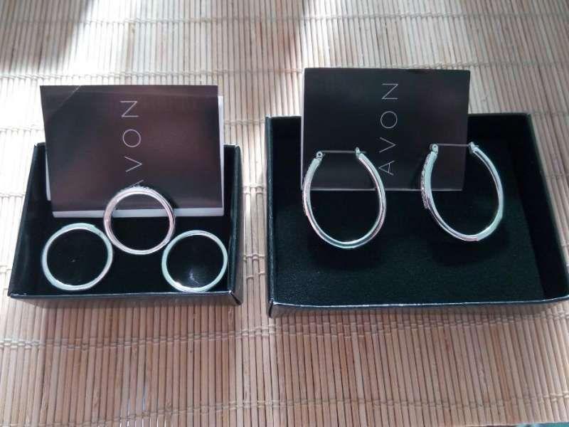 Комплект пръстени и обеци Black Enamel
