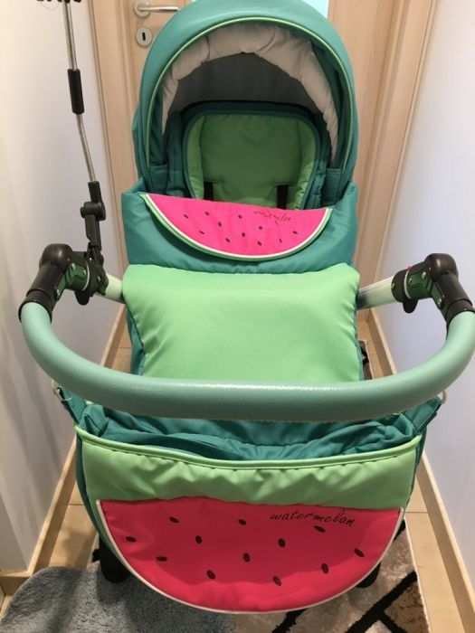 Продавам детска бебешка количка Dada Paradiso, Watermelon(диня) 2 в 1