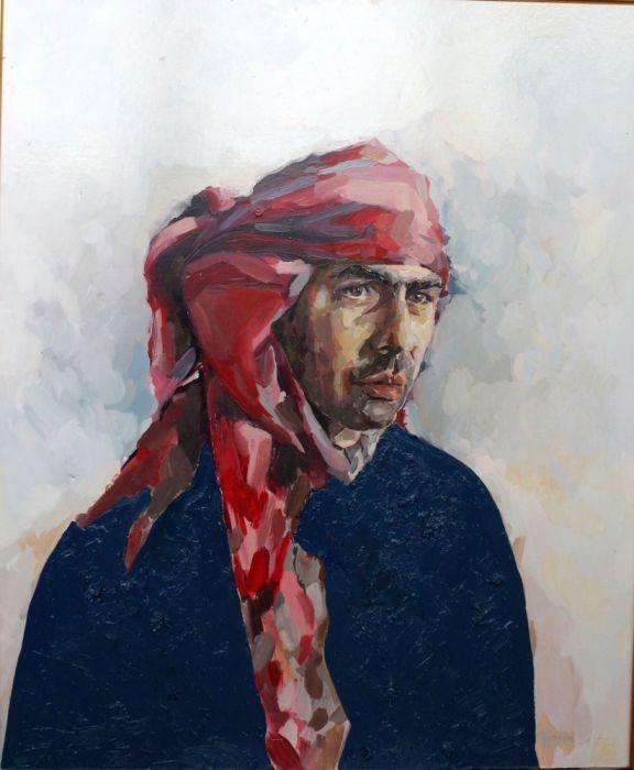 Tablou, portret, Omul cu turban