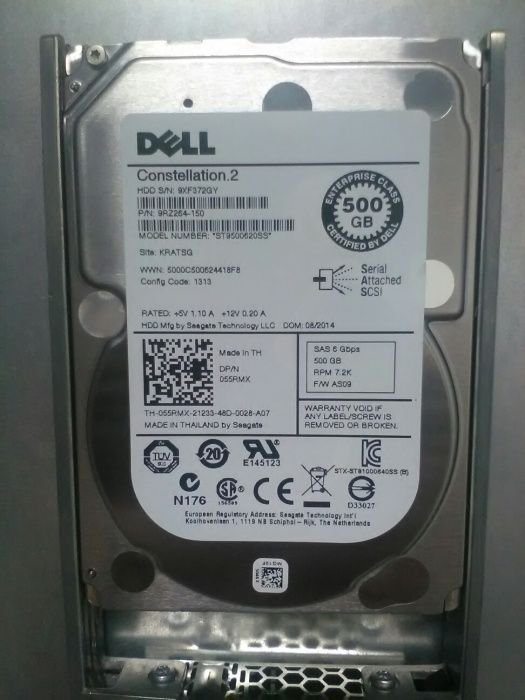 "4TB-8 hard disc-uri server sas 500gb 7.2k 2.5"" DELL"