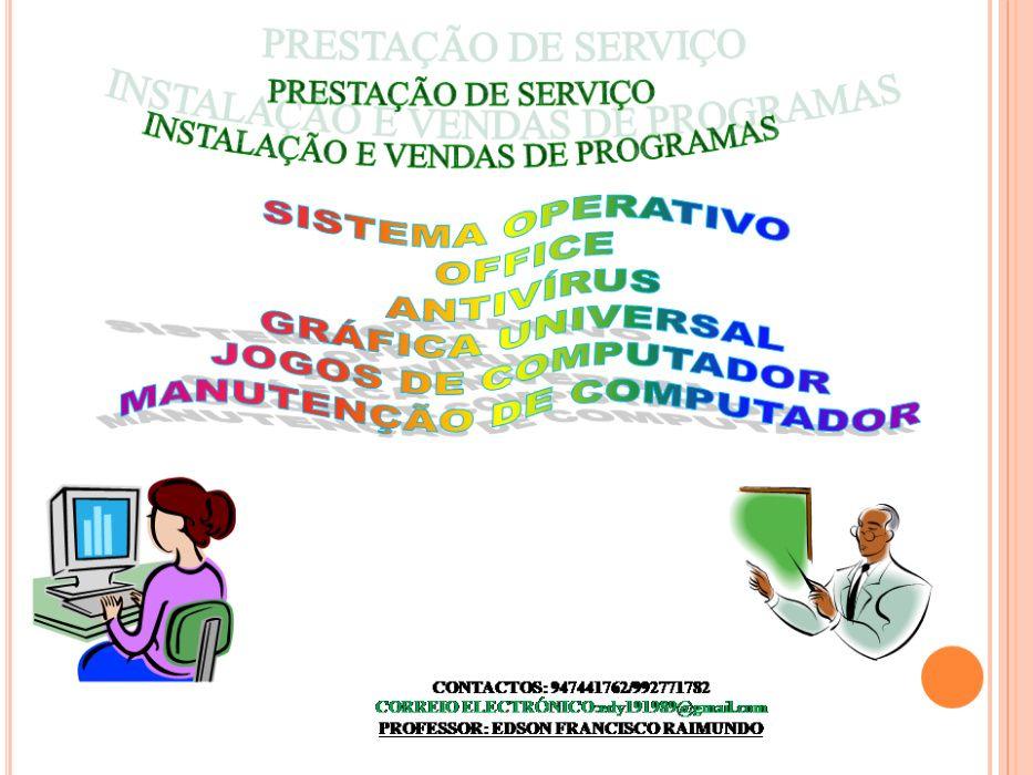 prestação de serviço e venda de programas