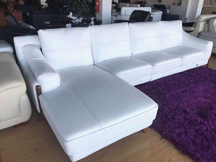 Sofa do Tipo L Branca