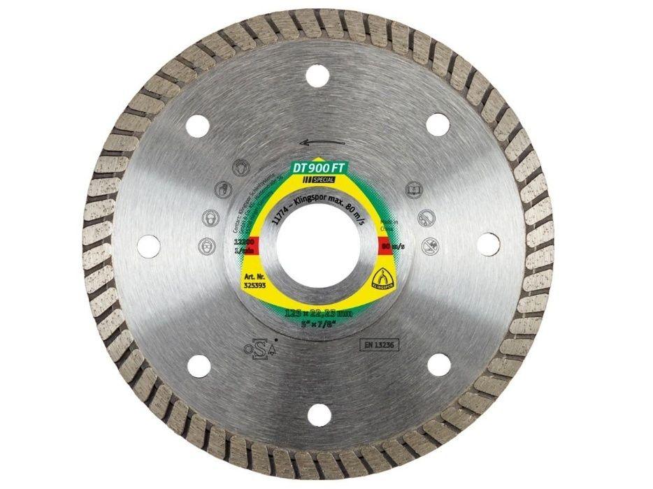 Disc diamantat Turbo 125 mm DT900FT Klingspor